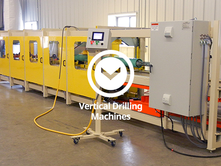 Vertical slotting machine, hole drilling machine